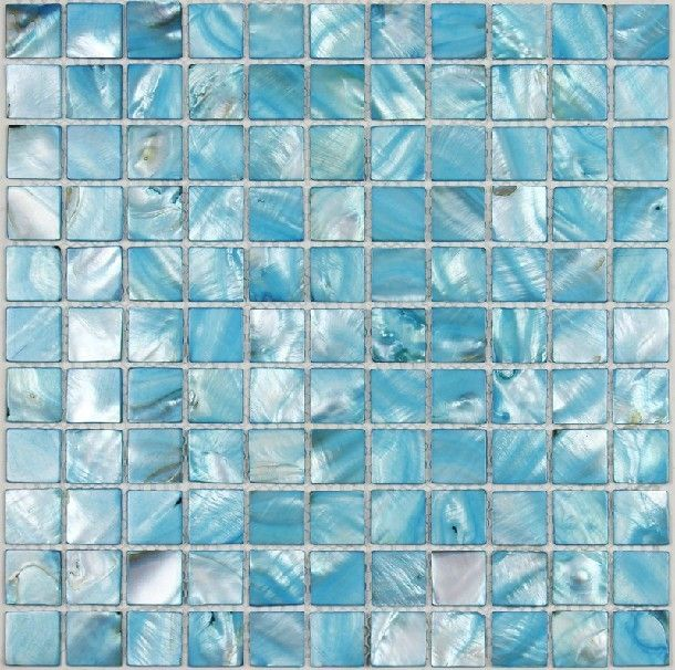 Sea Shell Mosaic Mother Of Pearl Tile Backsplash Mop049 Blue Tiles Bathroom Mosaics 19 49