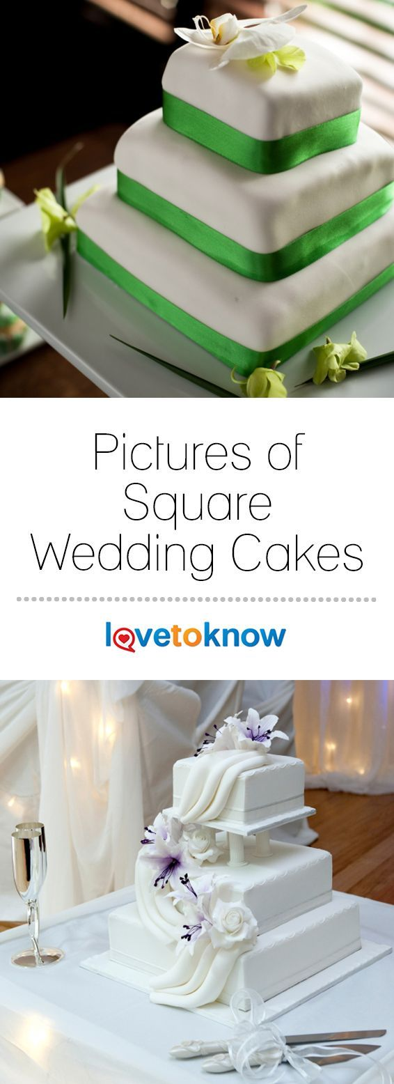 Pictures of Square Wedding Cakes - Weddings | Wedding Decorations, Wedding  Invitations, Beach Weddings, … | Square wedding cakes, Cool wedding cakes,  Wedding cakes