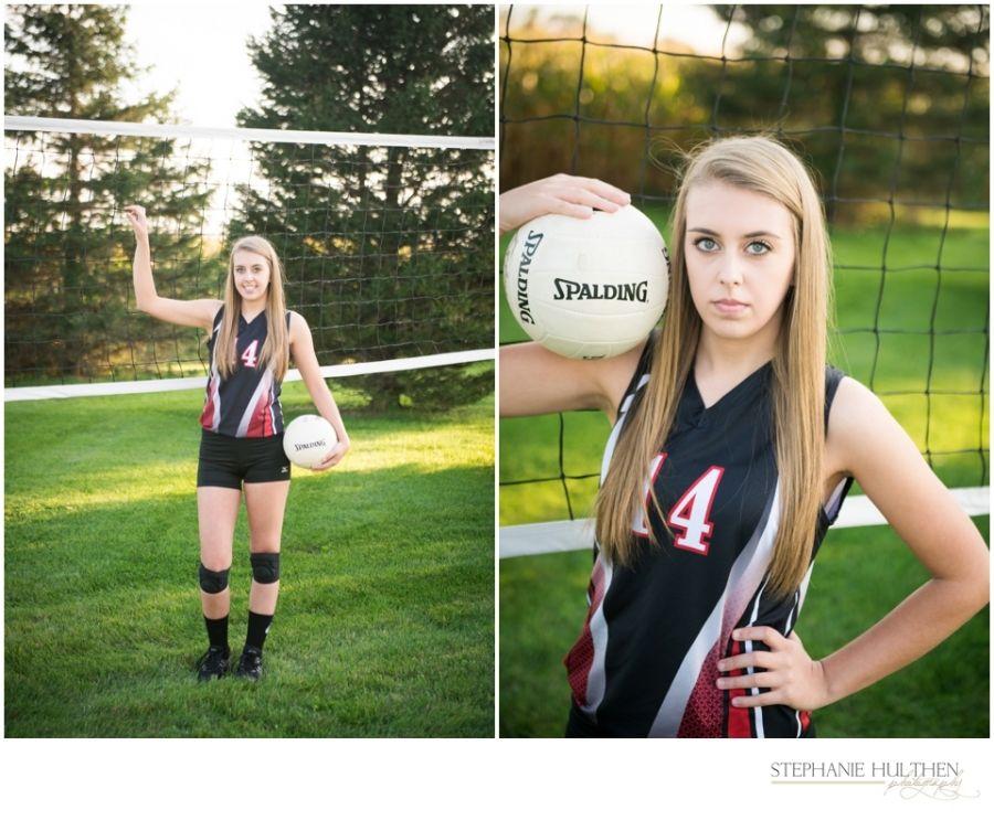 Senior Girl Pose Volleyball Senior Photo C Stephanie Hulthen Photography Northern Illinois Sen Senior Photos Girls Senior Photographers Senior Girl Poses