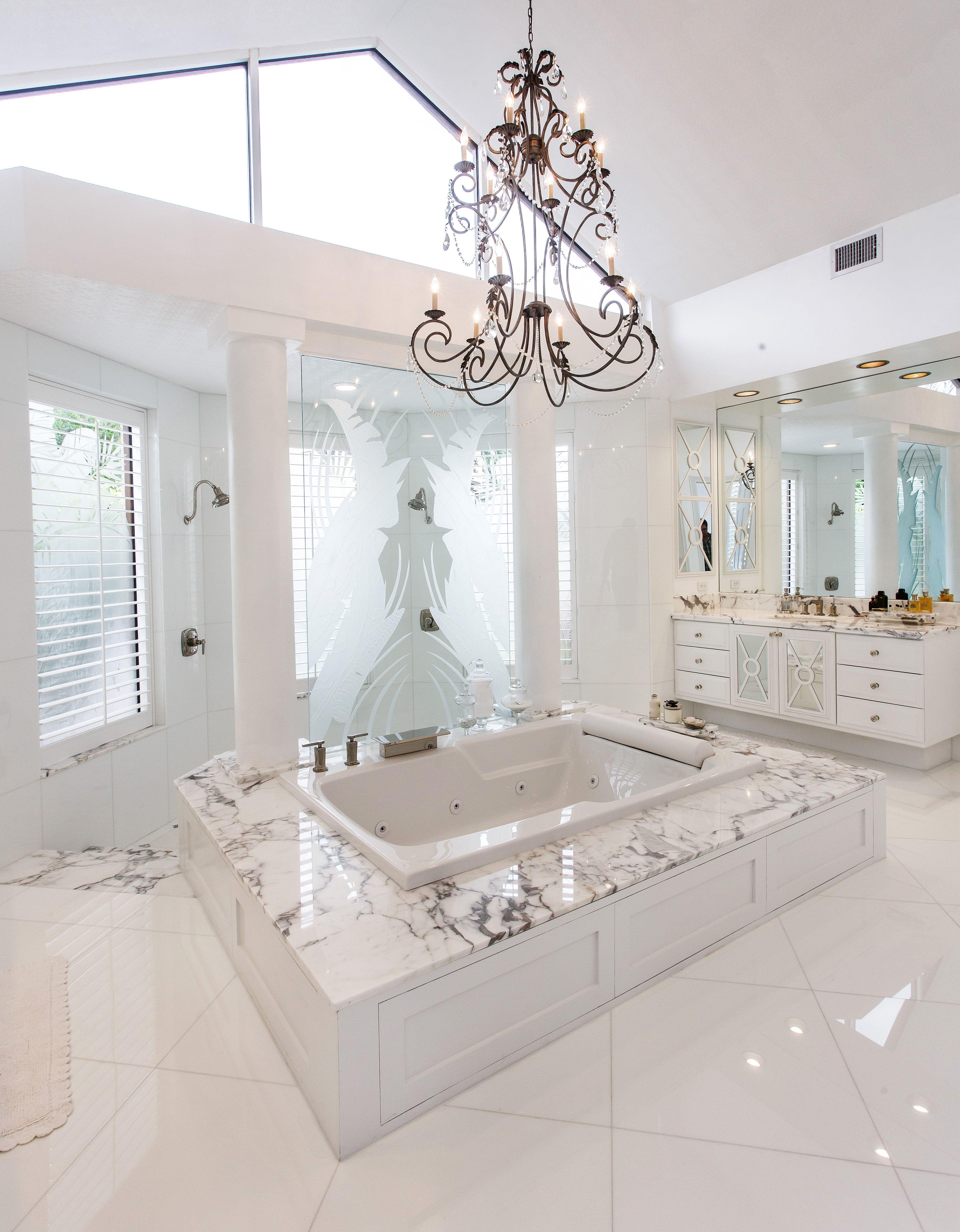 Gorgeous White Marble Bathroom Bathroom Luxury Bath Bocaraton Delraybeach Southflor Modern Luxury Bathroom Luxury Master Bathrooms Modern Master Bathroom