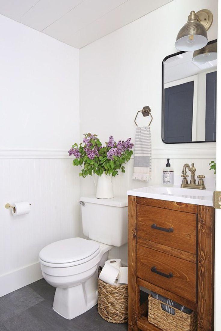 What Color Should I Paint My Bathroom Door Small Half Bathrooms Small Bathroom Makeover Small Bathroom