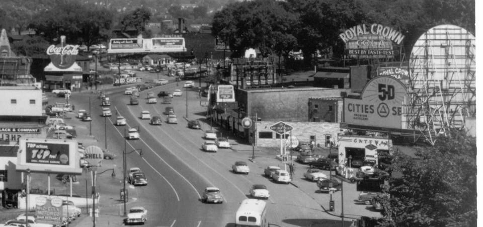 Henley Street Downtown Knoxville Tn Circa Mid 1950 S