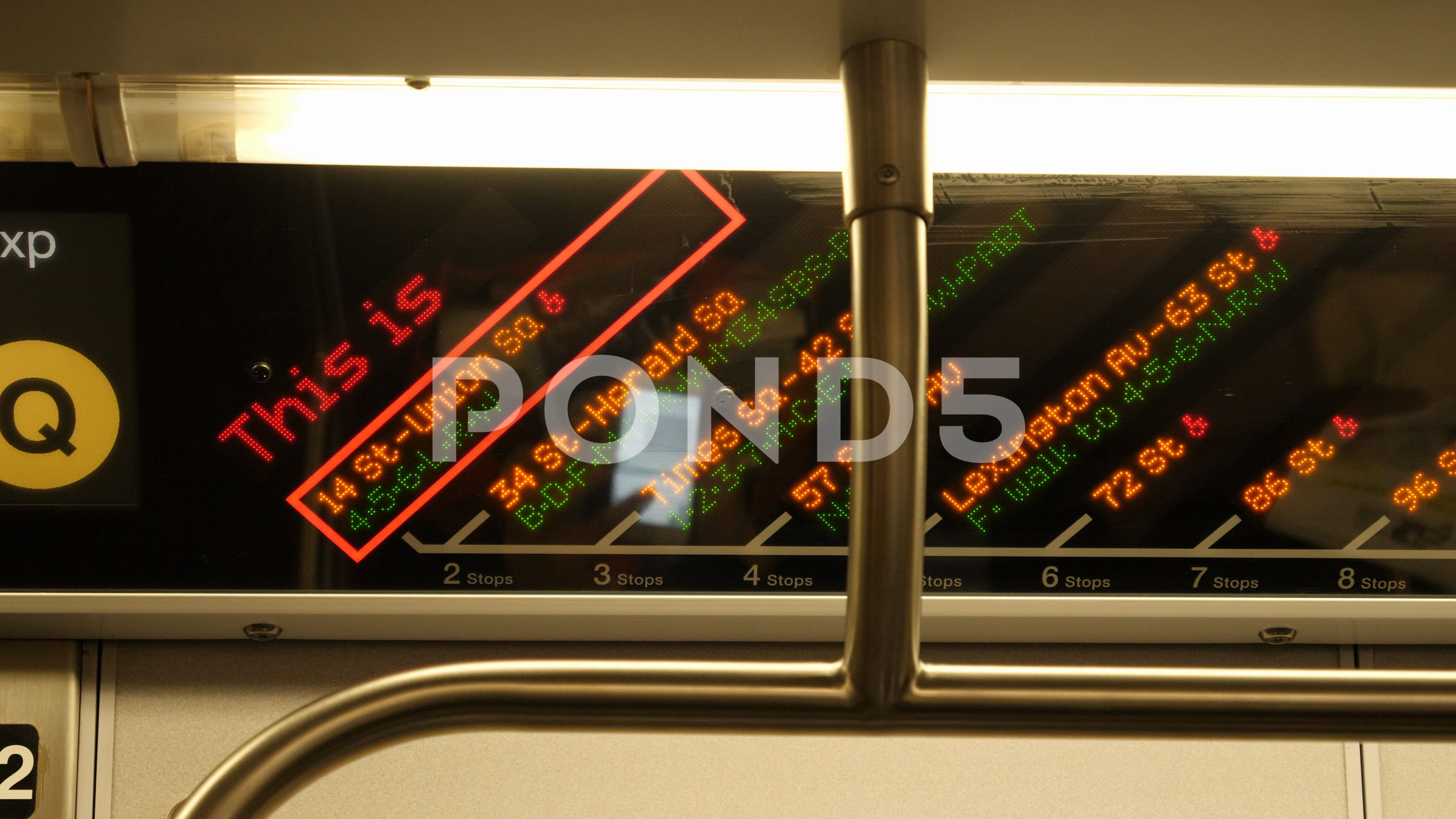 New York City Subway Map Brochure.City Map In Subway Train New York City Stock Footage Subway Map