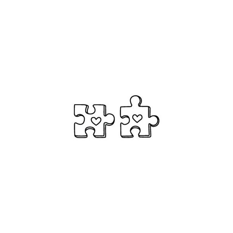 Puzzled - Temporary Tattoo (Set of 2)