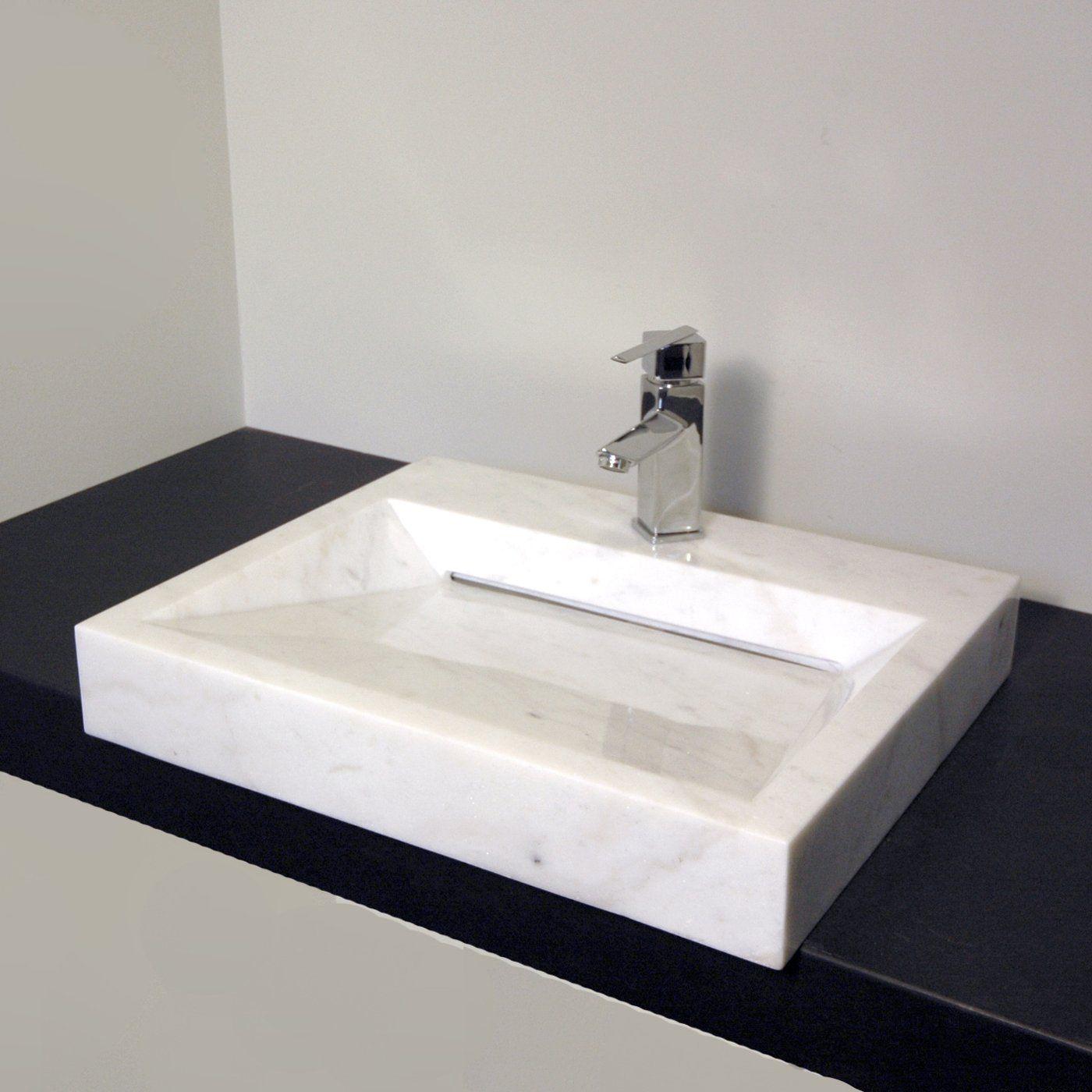 Bathroom Sinks Lowes Canada cantrio koncepts rs-107 stone series bianco carrera vessel sink