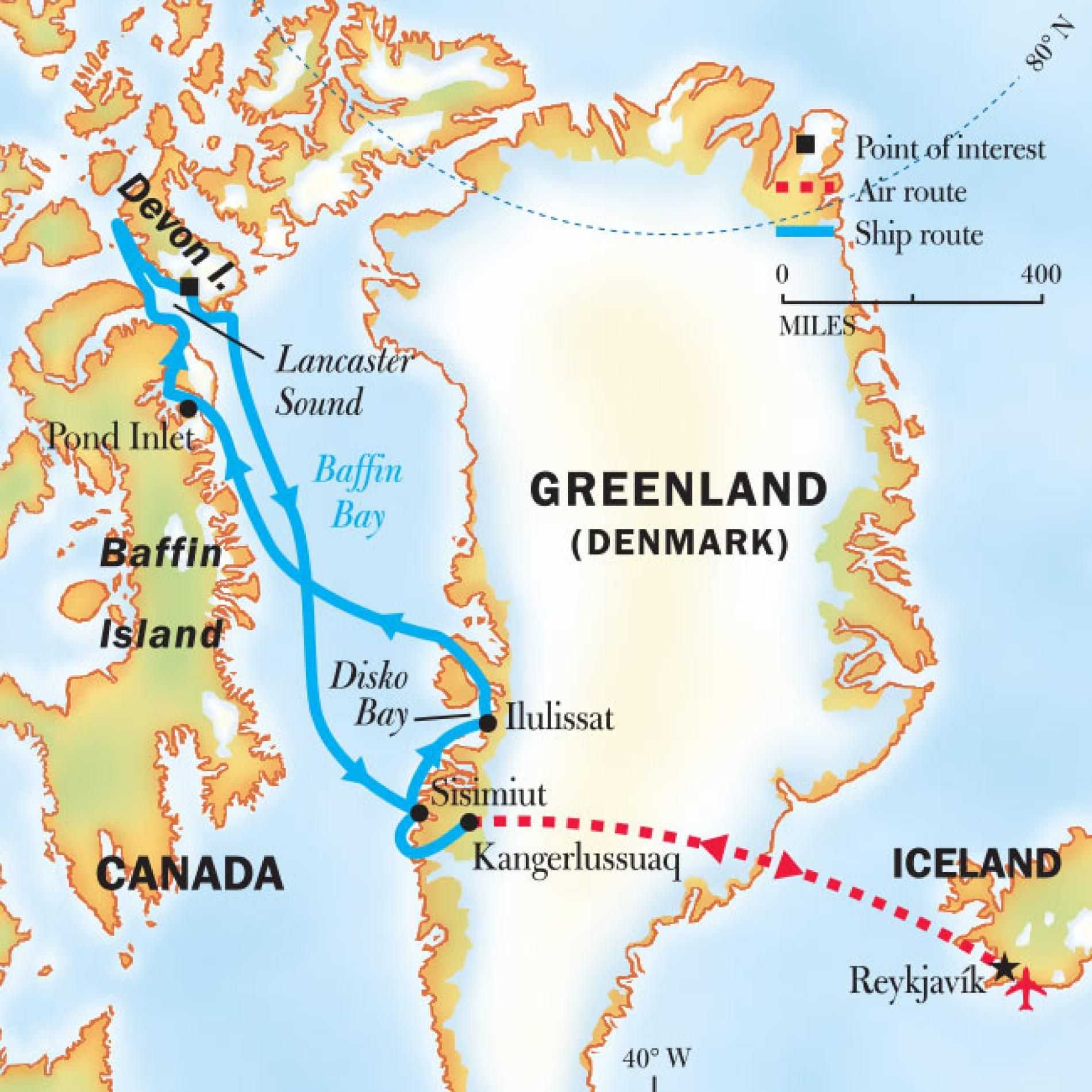Map Of Canada Greenland And Iceland.Greenland To Arctic Canada Northwest Passage Cruise National