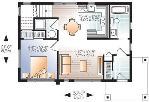 planos de casas de dos pisos y terraza