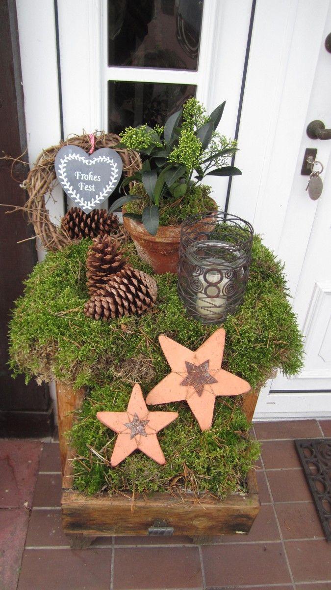 Weihnachtsdeko 'Weihnachtlicher Garten' #dekoeingangsbereichaussen