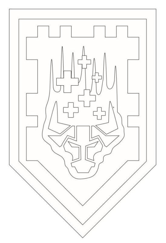 Kids-n-fun.com | Coloring page Lego Nexo Knights shields-3 | דפי ...
