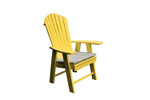 Newport Sun Yellow Recycled Poly Plastic Adirondack Chair   882 YL