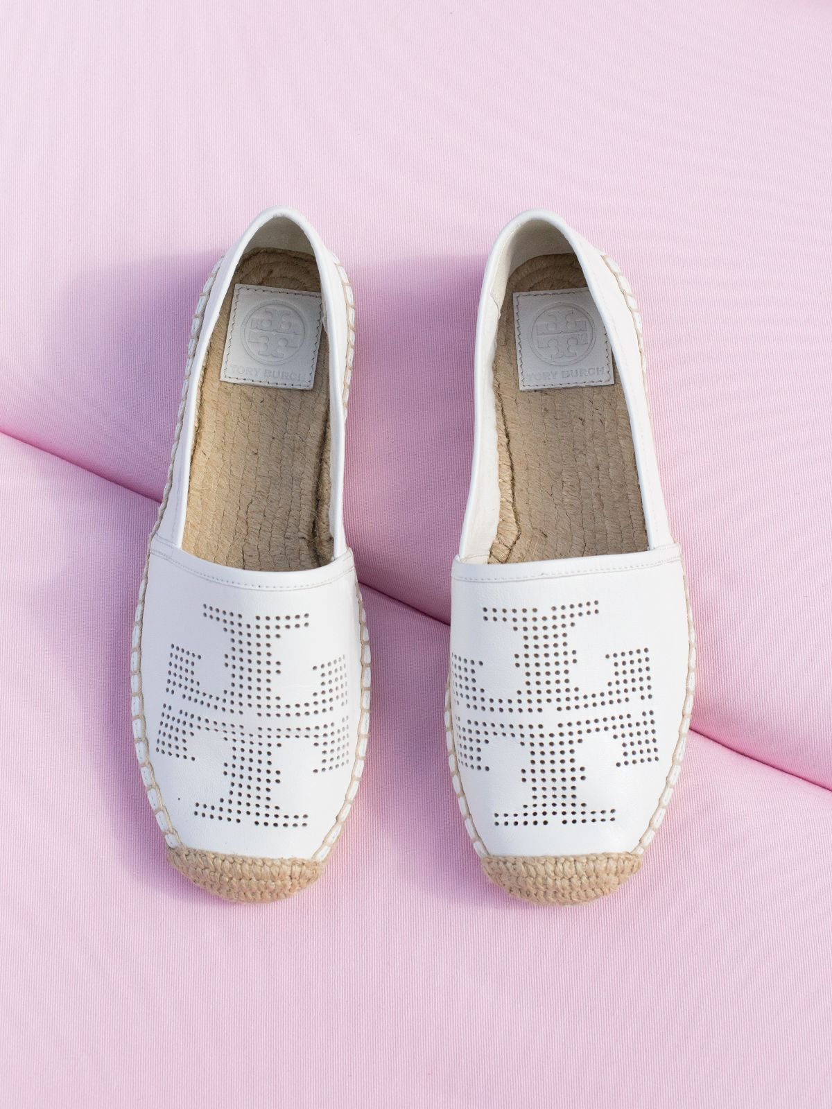 b58e8ef1b58118 Tory Burch Perforated Logo Espadrille