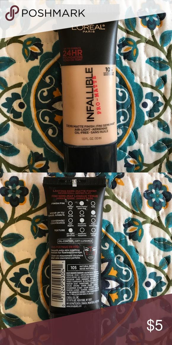 L'Oréal Infallible Pro Matte Shade 105 (With images