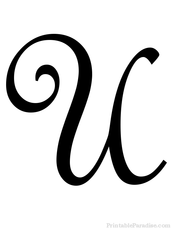 Printable Letter U in Cursive Writing | Tami | Cursive letters