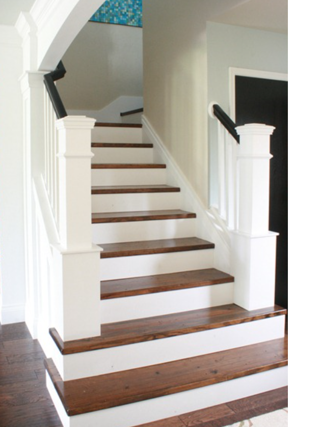 Best Partial Wood Stairs Like Staircase Remodel Redo 400 x 300
