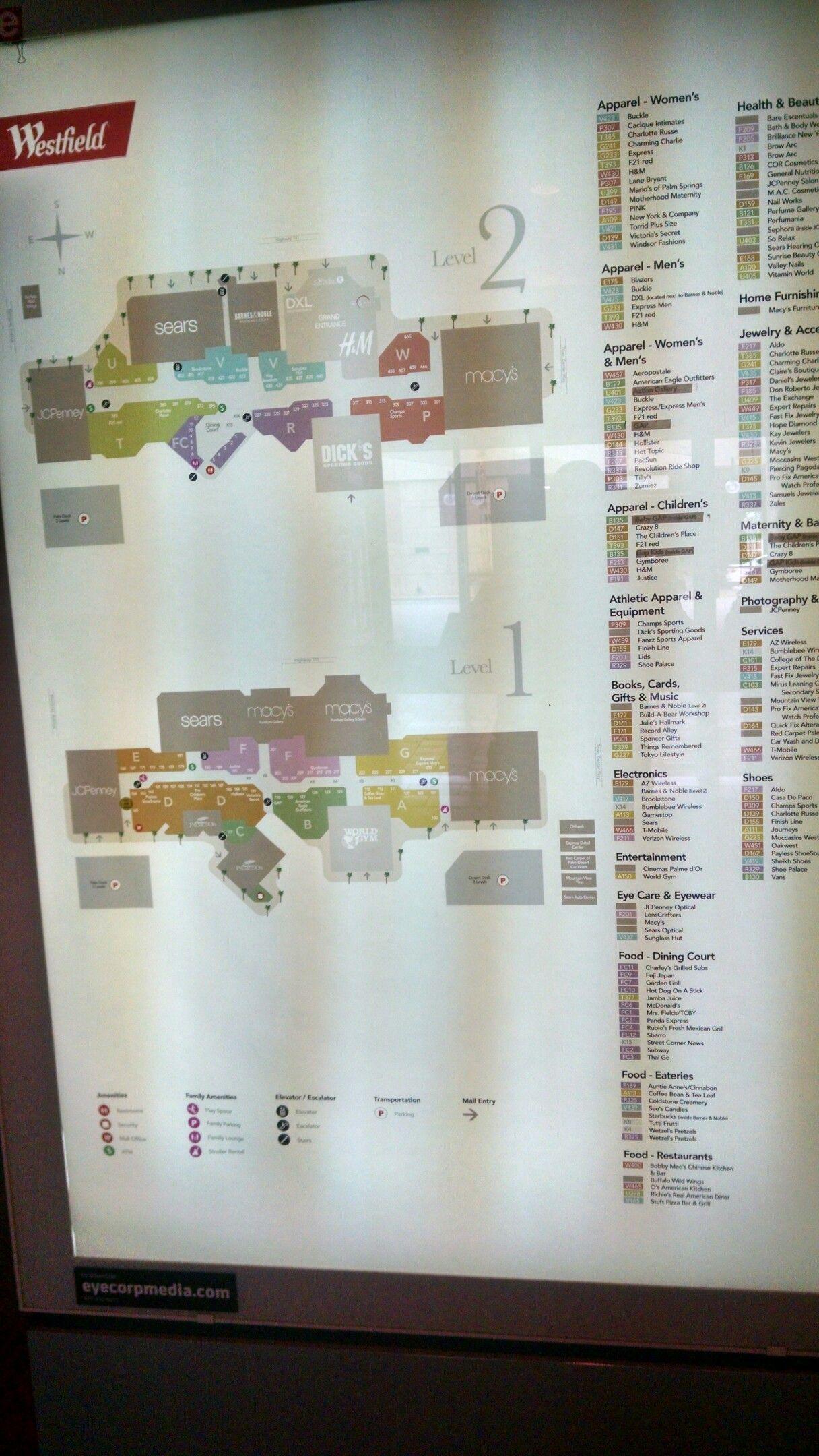 1cb4ededc3c8f Westfield Mall map. | My Children & Grandchildren | Westfield mall ...