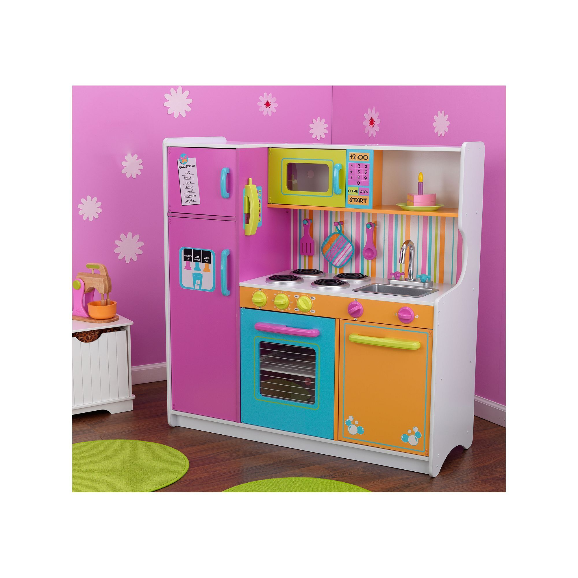KidKraft Deluxe Big and Bright Kitchen Playset, Multicolor ...