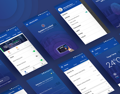 """Check out new work on my @Behance portfolio: """"Smart Home Security System / Android App"""" http://be.net/gallery/62883505/Smart-Home-Security-System-Android-App"""