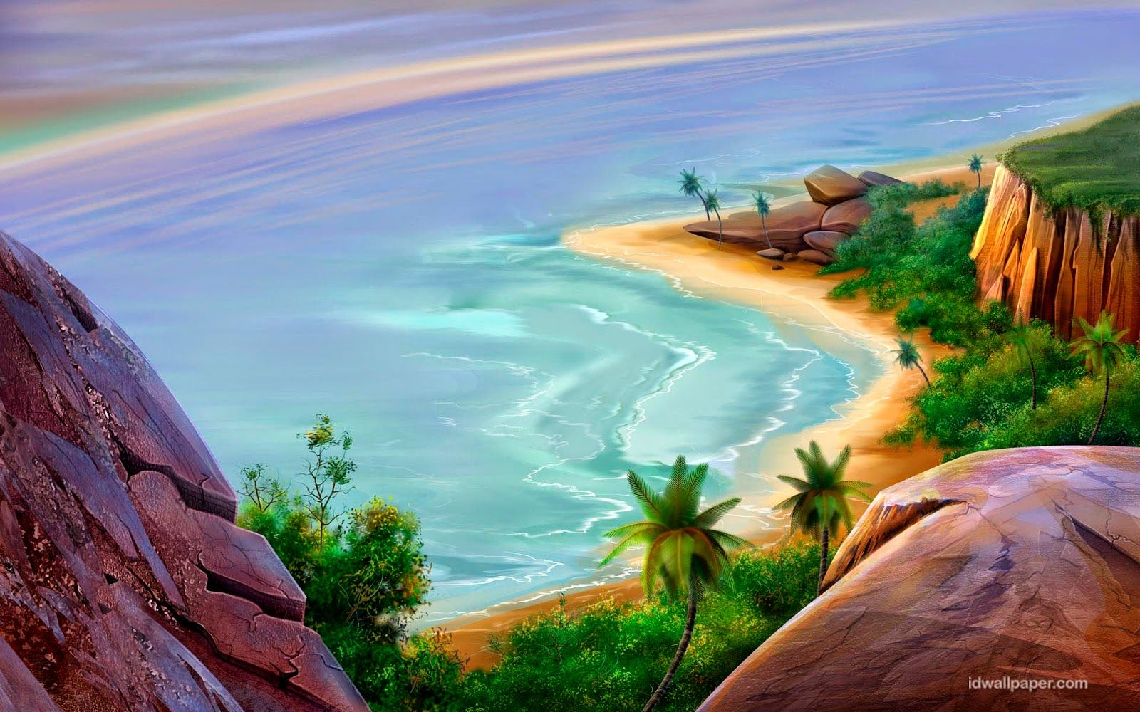Jamaica Beach Artwork Beach Drawing Beach Wallpaper