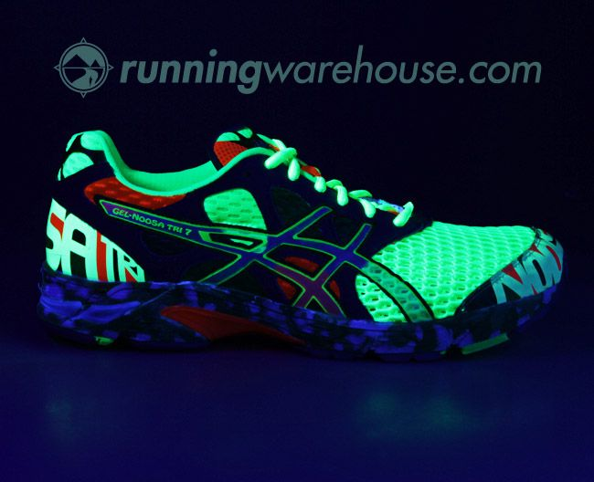 glow in the dark asics! in the light are bright neon colors and kinda 80's
