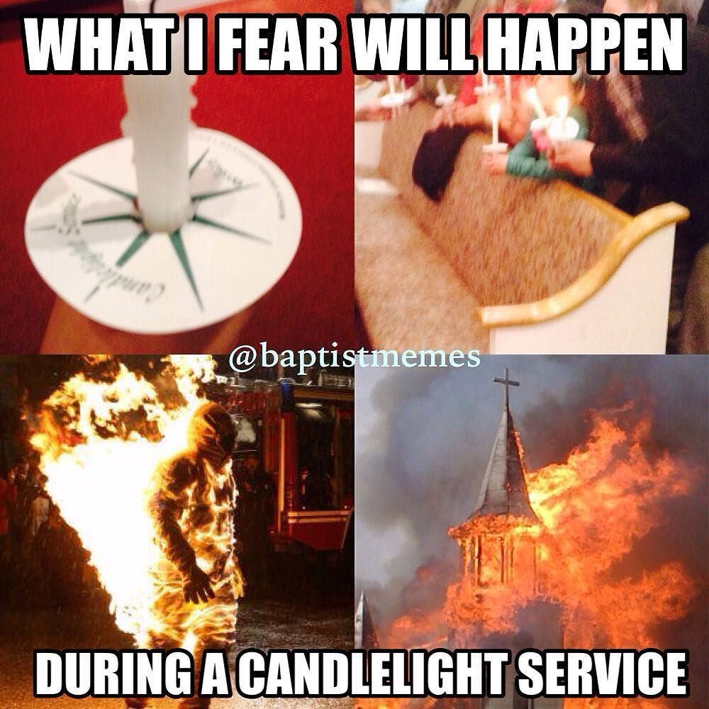 Who has a candlelight service tonight for NewYearsEve