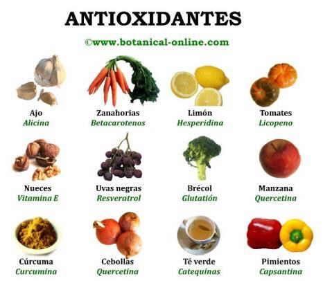 Antioxidantes de los alimentos vegetales frutas y verduras salud asma pinterest salud - Alimentos naturales ricos en calcio ...