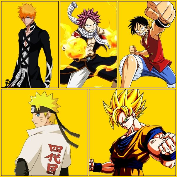 Bleach Vs Fairy Tail Vs One Piece Vs Naruto Shippuden Vs Dragon Ball