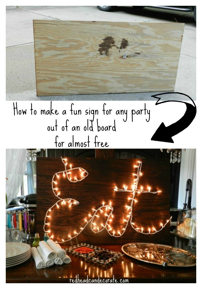 Free & Easy Party Eat Sign by redheadcandecorate.com