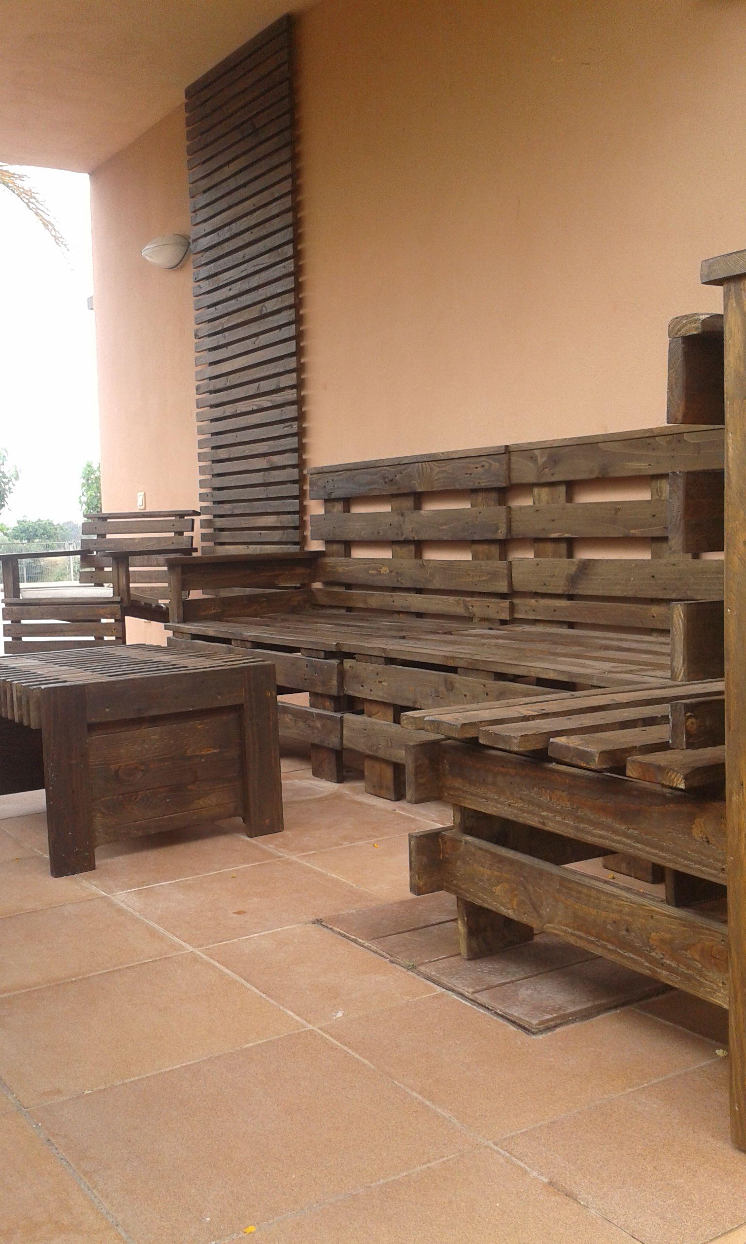 Conjunto Terraza Realizado Con Maderas De Palet Conjunto Terraza Muebles De Jardin Mobiliario