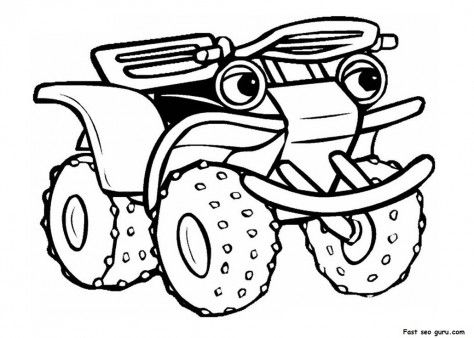 Printable Atv Tractor Coloring Pages