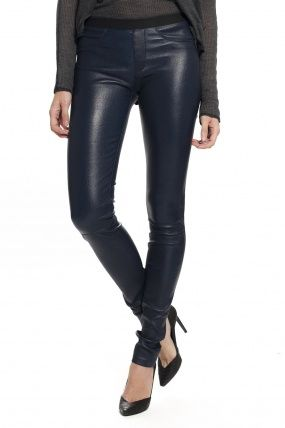 Helmut Lang Leather Legging - Midnight
