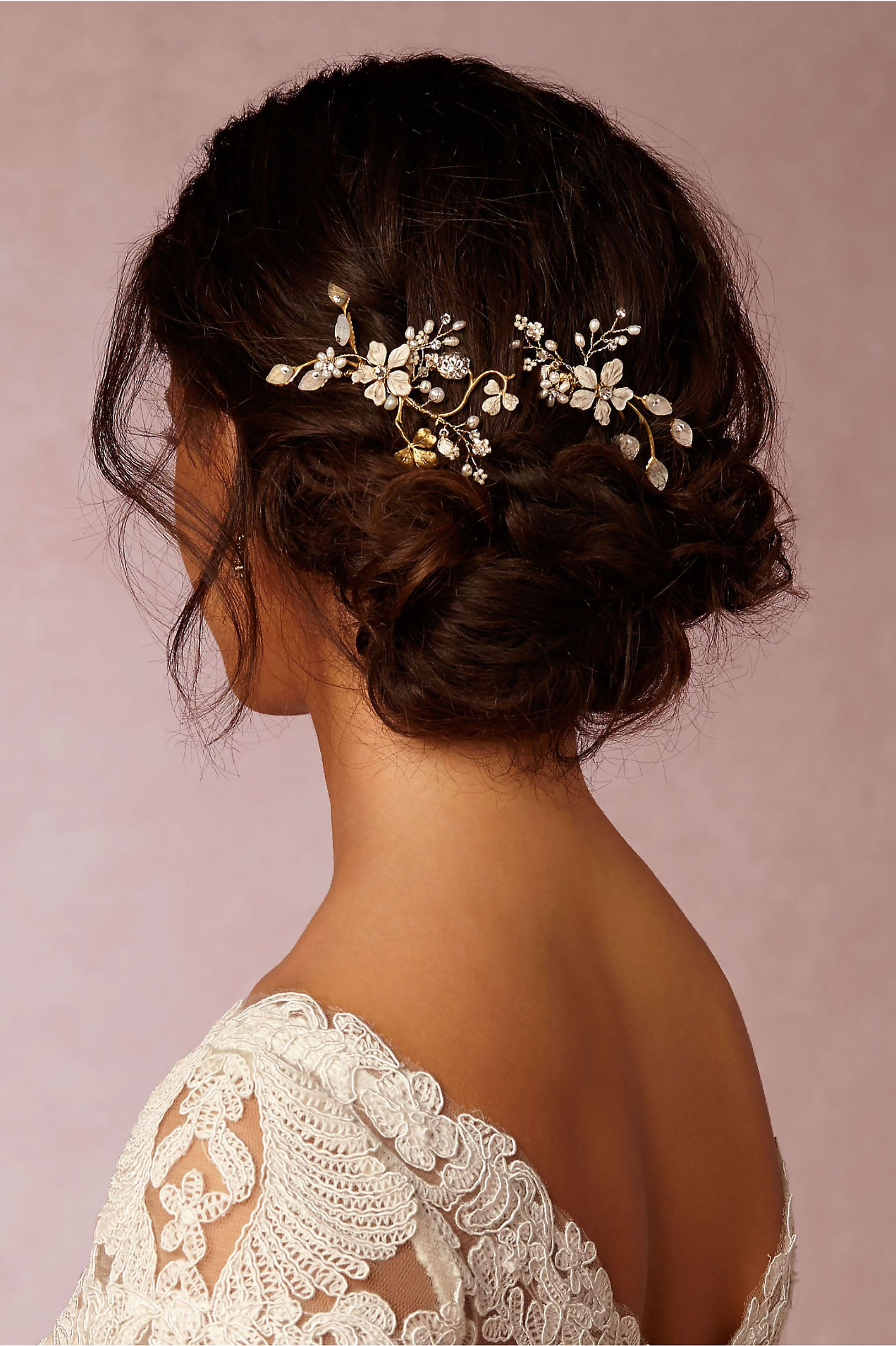 bhldn winter garden combs in bride veils & headpieces pins, clips