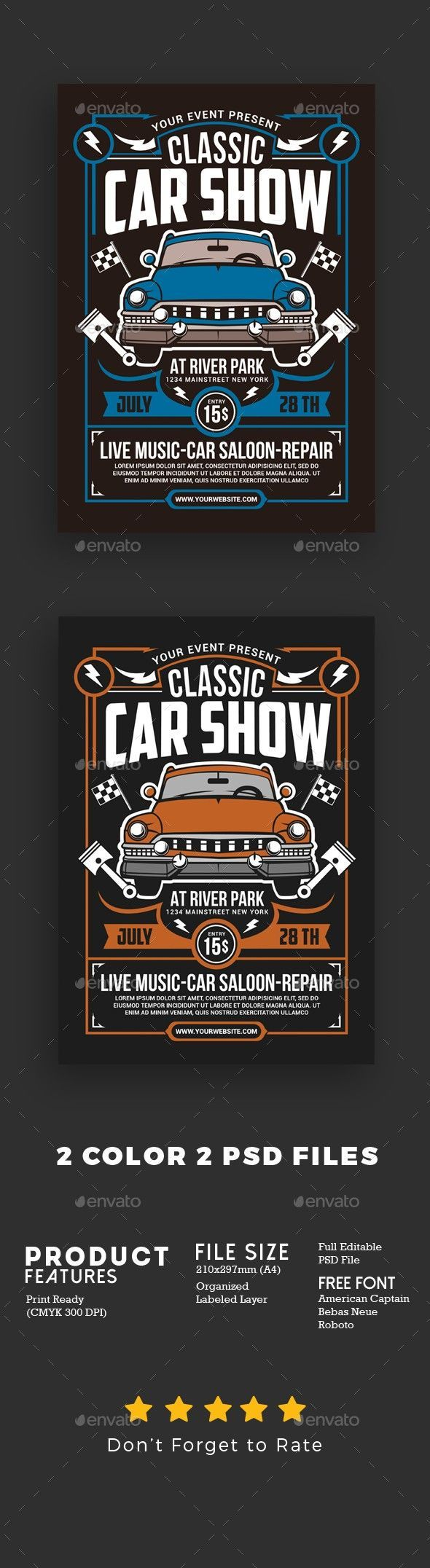 auto, background, car, car poster, classic, Classic Cars Flyer, club, design, dr…,  #Auto #…