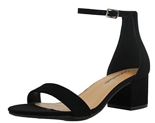 d61db4101a30 Pumps D Orsay n Two-Piece City Classified Womens Open Toe Ankle Strap Chunky