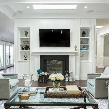 Living Room with Skylight, Transitional, Living Room | firep ...