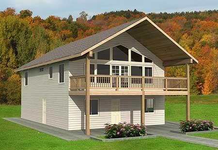 Plan w35361gh carriage garage vacation metric for Mountain vacation home plans