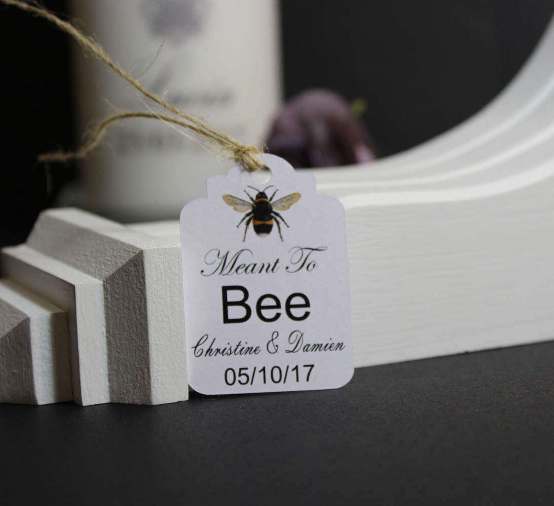 Wedding THANK YOU Gift Tags, Handmade Personalised Wedding Favour ...