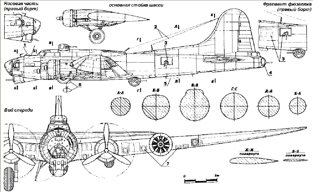 hight resolution of boeing b 17 flying fortress b 17 plane design old planes cutaway