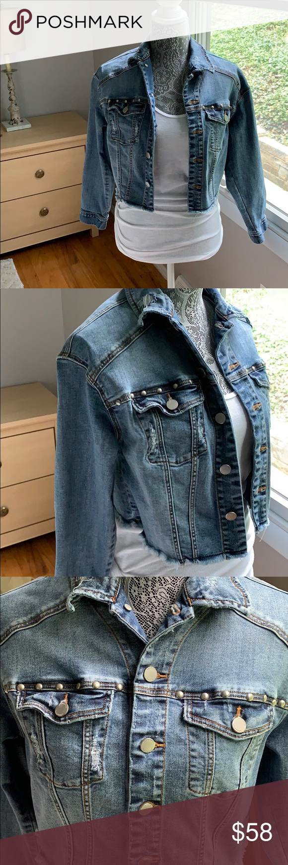 Liverpool Jean Jacket Super Cool Studs Frayed In The Bottom Size Is Xs But Fits Me And I M A Medium Liverpool Jeans Company Liverpool Jeans Jackets Jean Jacket [ 1740 x 580 Pixel ]