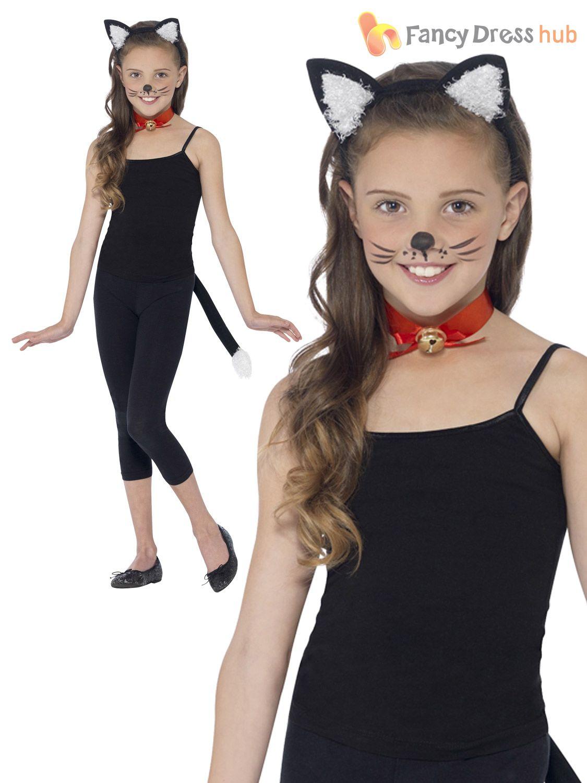 Filles Cat Fancy Dress Costume
