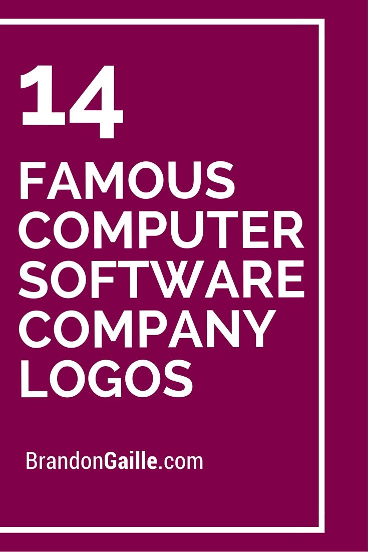 List of Famous Computer Software Company Logos | Logos and