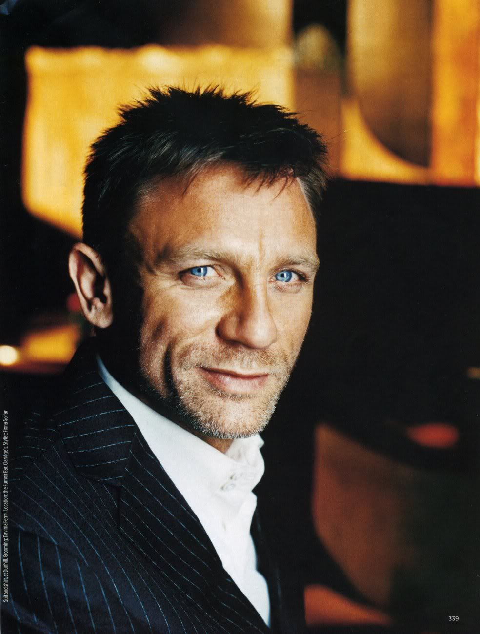 Daniel Craig. I KNOW he's old but I just have a major thing for him. And I seriously don't know what it is because at first glance i SHOULDNT BE ATTRACTED TO HIM. He's blond! With blue eyes! So not my type... sigh. so dreamy.