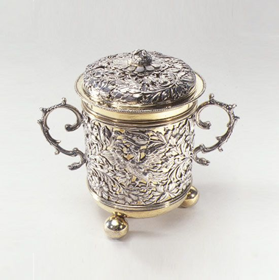 Two-handled covered loving cup