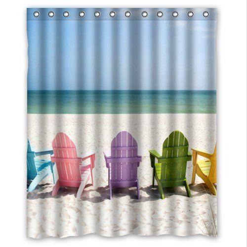 Interestprint Beach Ocean Theme Shower Curtain Wavy Ocea Https