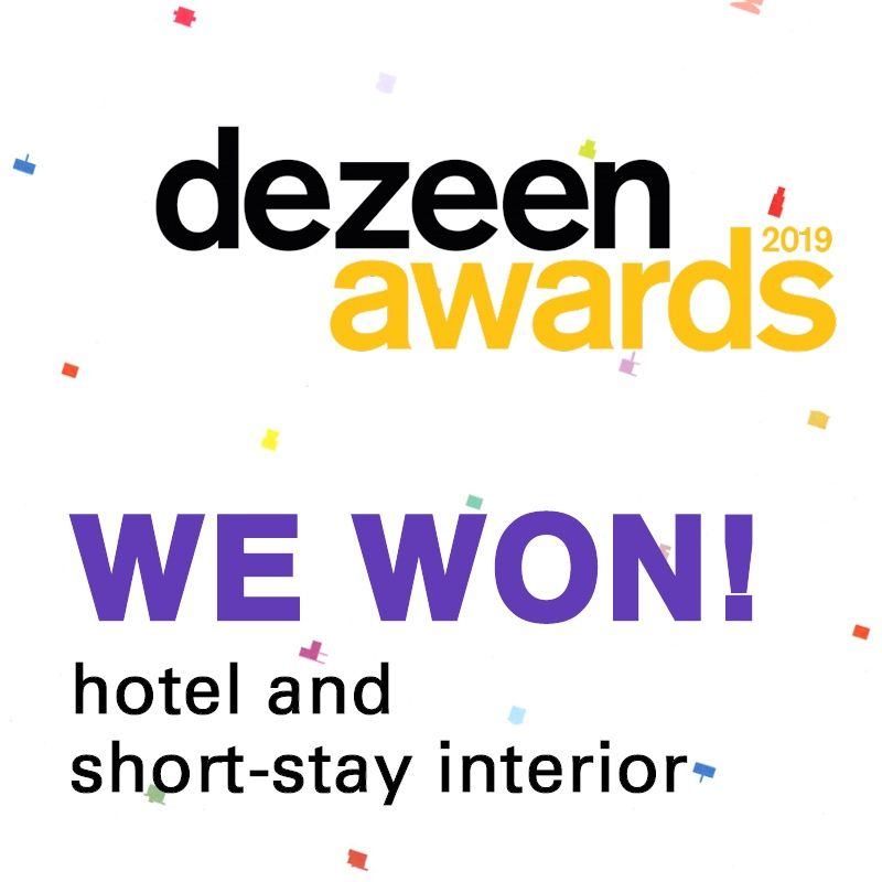 WE DID IT! SWEETS hotel won a Dezeen Award! 🏆 Thanks for your support! 🎉  #sweetshotel #amsterdam #hotel #hotels #award #awards #prize #dezeen #dezeenawards #travel #traveling #travelling #traveltips #getaway #romantic #romanticgetaway #staycation #awardwinning #winning #winner #holland #netherlands #bridgehouse #bridgekeeper #reuse #circular #innovative #innovation