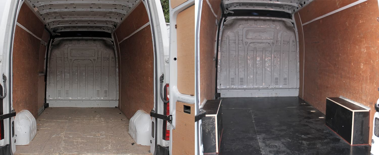 Nissan Nv 400 L3 Fitted With Wisadeck Flooring Flooring Wisadeck  # Muebles Sortimo