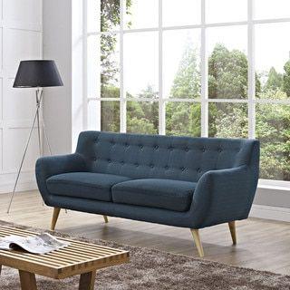 Modway Remark On Tufted Sofa Azure Blue