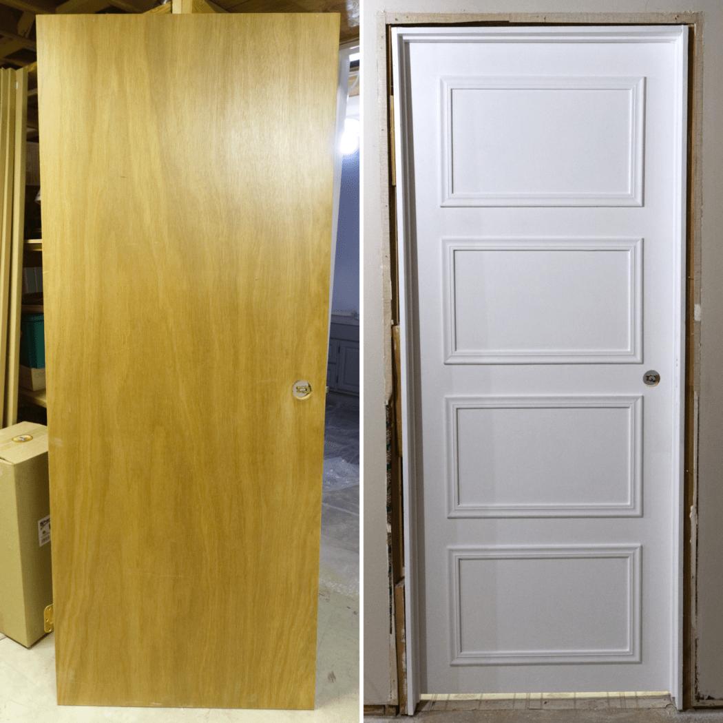 Updating Interior Doors Budget Hollow Core Door Makeover The Homestud Diy Interior Doors Hollow Door Makeover Doors Interior