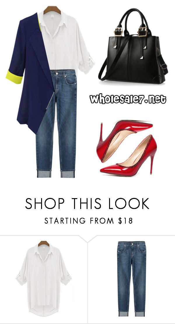 """""""Wholesale7/ Blazers"""" by lee77 ❤ liked on Polyvore featuring 7 For All Mankind, women's clothing, women's fashion, women, female, woman, misses, juniors, Pumps and blazer"""