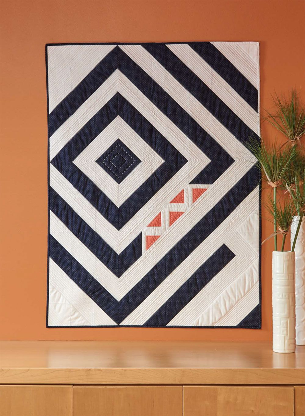 Five Smalls Crib Quilt - The Quilting Company #modernquiltingdesigns