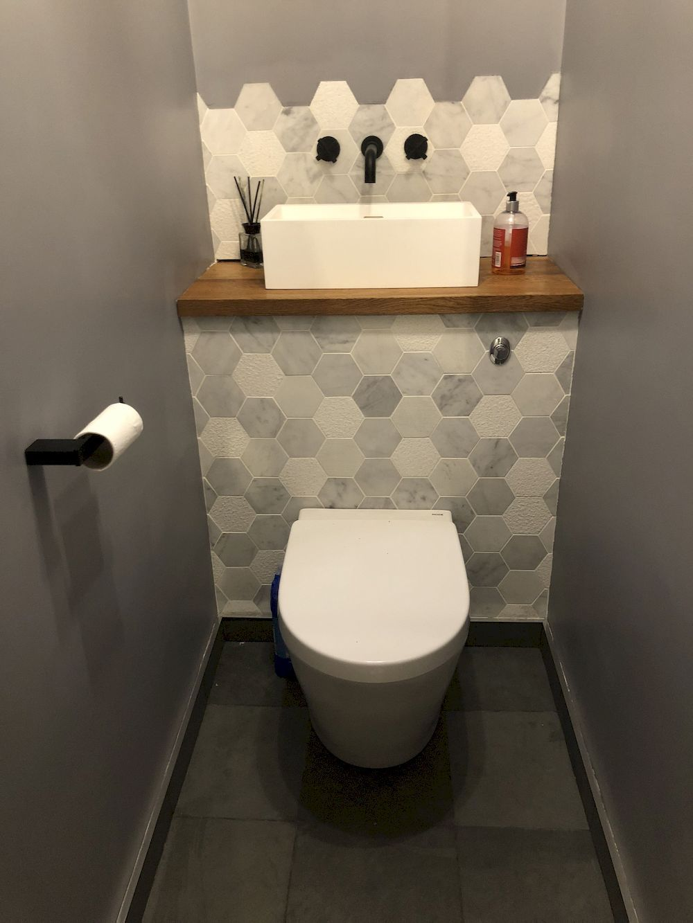 Bathrooms Design Under The Stairs The Space Under The Stairs Is Converted Into Storage Space In Bathroom Under Stairs Small Toilet Room Small Bathroom Makeover